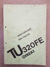 ISEKI TU320FE TRACTOR PARTS CATALOGUE
