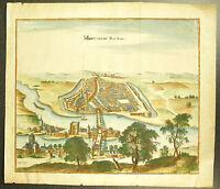 Montereau-Fault-Yonne Necessità-yonne La Senna Il Porto Incisione XVIII E