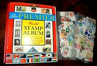 CatalinaStamps: 1967 Grossman Premier World Stamp Album with 3,434 Stamps, #H6