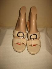 Clarks New Metallic Gold  Leather Strappy Thongs Sandals  Shoes Shoe Size 7.5  M