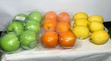 Lot Of 18 ALEKO Plastic Oranges,  Apples, Lemons Kitchen Decor Fake Fruit