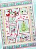 Frosty Wonderland - gorgeous pieced & applique quilt PATTERN - Cherry Blossoms