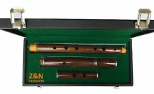 IRISH PROFESSIONAL 4 PARTS D FLUTE SHEESHAM WOOD  SILVER MOUNTS, HARD CASE BOX