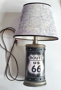 "Route 66 Lamp 14"" With Shade"