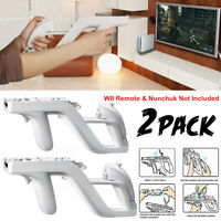 2 Pack Zapper Gun For Nintendo Wii Controller Holder Immersive Gaming Wiimote US