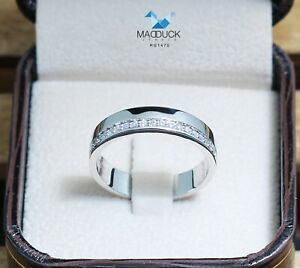 Cubic Zirconia / Sterling Silver 925 Ring / Rhodium plated Nickel-Free
