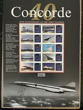 Concorde.40Th Anniversary Of The First Flights. Signed By Michael Retif.