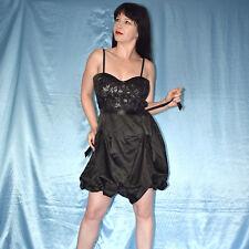 silber Lurex am Satin COCKTAILKLEID* S Minikleid Etuikleid* Abendkleid Ballkleid