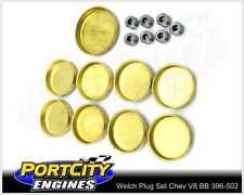 Welch Welsh Brass Core Plug Kit Set Chev V8 BB 396 402 427 454 502 WPK-C454