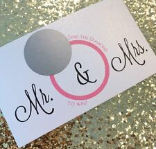 16 mr and mrs scratch off cards bridal shower game
