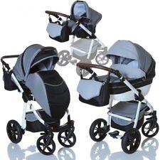 LCP Kids 3in1 Kombikinderwagen Lucato Grau Babywanne Buggy Babyschale 0-13 kg