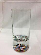 "OPUS ""MOSAIC"" HIBALL 5 7/8"" MULTI COLOR BASE / CLEAR GLASS NEW CZECH REPUBLIC"