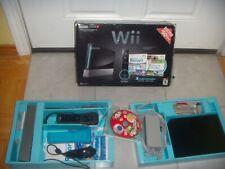 Nintendo Wii Console Black in Box +Super mario bros game