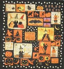 witchful PENSAMIENTO Bruja Calabaza murciélago Halloween Negra clothworks