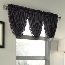 Luxury Waterfall Faux Silk Decorative Trim Window Valance 10 Colors