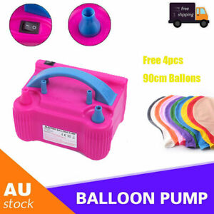Electric Air Balloon Pump Ballon Inflator 650W Power 2 Nozzles Portable GPUM357