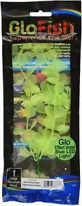 Tetra Glofish Glow Plant Yellow 8 Inch Large Aquarium Ornament Glo Effect