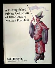 SOTHEBY'S PRIVATE COLLECTION OF 18TH C MEISSEN PORCELAIN 11/24/98  -X