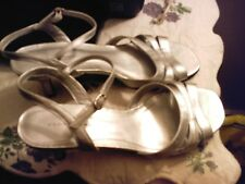 Predictions Silver Open-toed Heels - Size 8