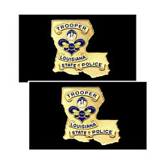 Louisiana State Police Trooper Badge Decals Pack Of Two