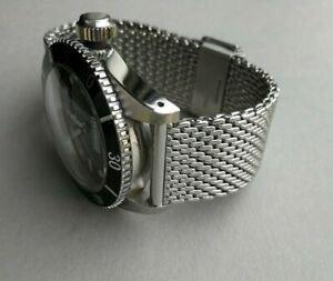 Stainless steel BOND type watch strap - 'Bond' mesh bracelet for Omega Seamaster