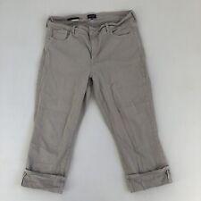NYDJ Los Angeles Women's Gray Dayla Wide Cuff Capri Lift Tuck Tech Size 14W