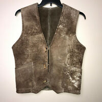 The Sheepskin Trader Shearling Brown Vest Rancher Mens Size 36 Toggle Closures
