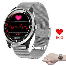 Round Screen Smart Watch Heart Rate Monitor ECG+PPG Watch for iPhone Android LG