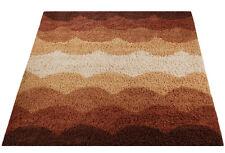 Mid Century Danish Modern Rya Style Shag Rug / Deco Print Carpet Eames (8X10)