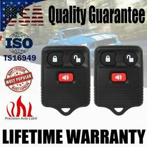 2 Keyless Entry Remote Control Car Key Fob For Ford F150 Expedition Escape Focus
