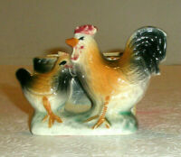 Vintage Hand Painted Ceramic Chicken Planter Hen Rooster
