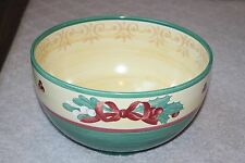 "11"" Large Salad Serving Bowl Merry Winter by Villeroy & Boch Green Yellow Bow"