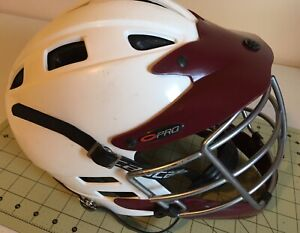 Cascade Pro  MWM Lacrosse White And Maroon Helmet XS-R- pre owned good condition