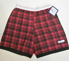 Lulu Couture Black and Red Plaid Sleeping Shorts - size small (4/5) - NWT