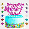Personalised Happy 18th Birthday Glitter Cake Topper Any Name Any Age  21 30 40