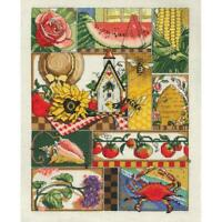 """Janlynn Counted Cross Stitch Kit Summer Montage 11"""" X 14"""" NEW 14 CT"""