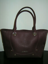 UNUSED LOVE MOSCHINO TOTE SHOPPER PLUM RED & GOLD BAG LEATHER WORK