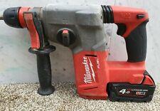 Milwaukee 18v fuel brushless sds three mode hammer drill+4ah battery M18 CHX