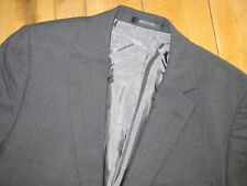 Hugo Boss Solid Dark Gray Pasolini 100% Wool Suit 39 40 Dual Vents Flat Front