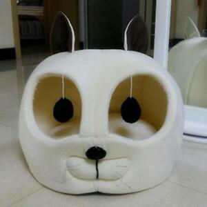 Cat Head Shaped Pet Dog Bed Soft Warm Winter House Cats Kennel Sofa Pets Mat New