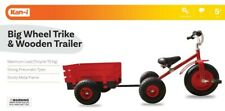 NEW Kan-I  Red Large Trike And Wood Wagon from Mr Toys