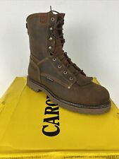 "Carolina NWB Men's 8"" Waterproof Work Boots Electrical Hazard Rated Sz 12D Brown"