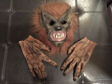 Spirit Halloween Adult Wolf Werewolf Mask & Gloves Costume