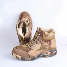 Men's Ankle Boots Camo Hiking Hunting Fleeces Shoes Tactical Military army boots