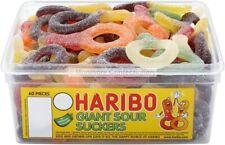 HARIBO GIANT SOUR SUCKERS ZING 50 grams SAMPLE & 750 grams in a SEALED BAG