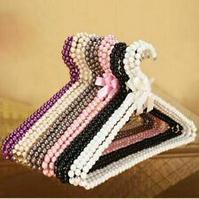 Creative Pearl Bow Clothes Coat Hanger Towel Scarf Hanging Rack Holder Organizer