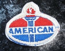 Vintage American Oil Label Embroidered Fabric Patch-Red, White & Blue Colors-New