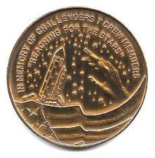 NASA STS-51L ORBITER CHALLENGER FIRST INFLIGHT DISASTER 1-28-1986 ANTIQUE BRONZE