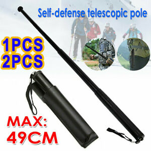19.3'' Portable Pocket Self Defense Telescopic Stick Retractable Outdoor Tools