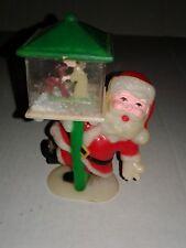 Vtg  Brite Star Christmas Santa Claus Reindeer/Angel 1978 Brite Star Celluloid